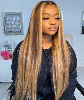 Colorful 13X6 Lace Frontal Wigs Blonde Maxed 150%