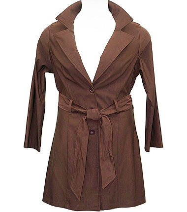 Downtown Girl Brown Coat
