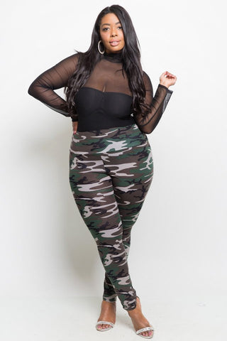 732637245e ... Plus Size High Waist Camo Print Leggings  SALE  ...