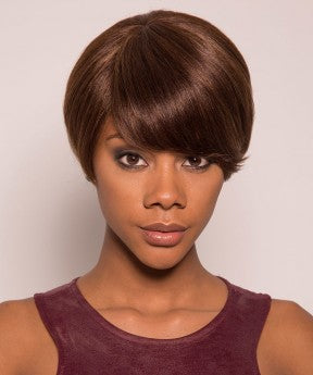 Pixie Human Hair Wigs Short None Lace Cut Bob Wigs 130%