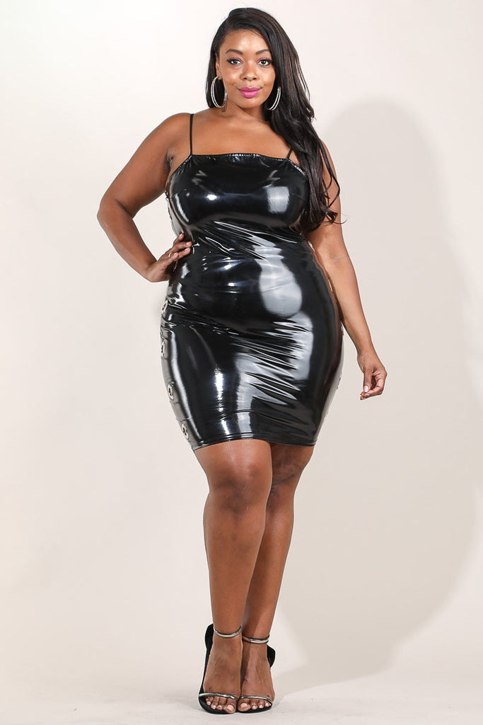 Plus Size Shiny Curvy Latex Bodycon Dress – Plussizefix