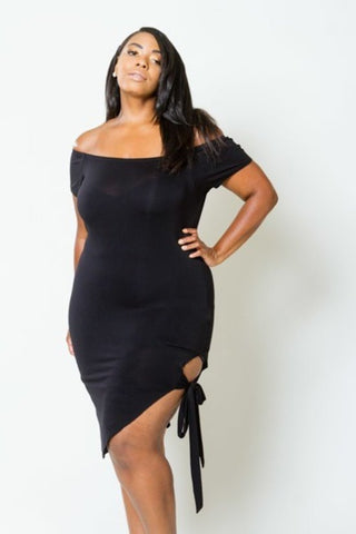 Plus Size Summer Cut Out Side Bodycon Dress