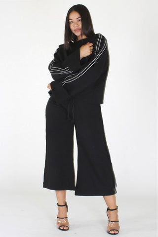 Plus Size Trendsetter Side Stripe Two Piece Set [PRE-ORDER 25% OFF]