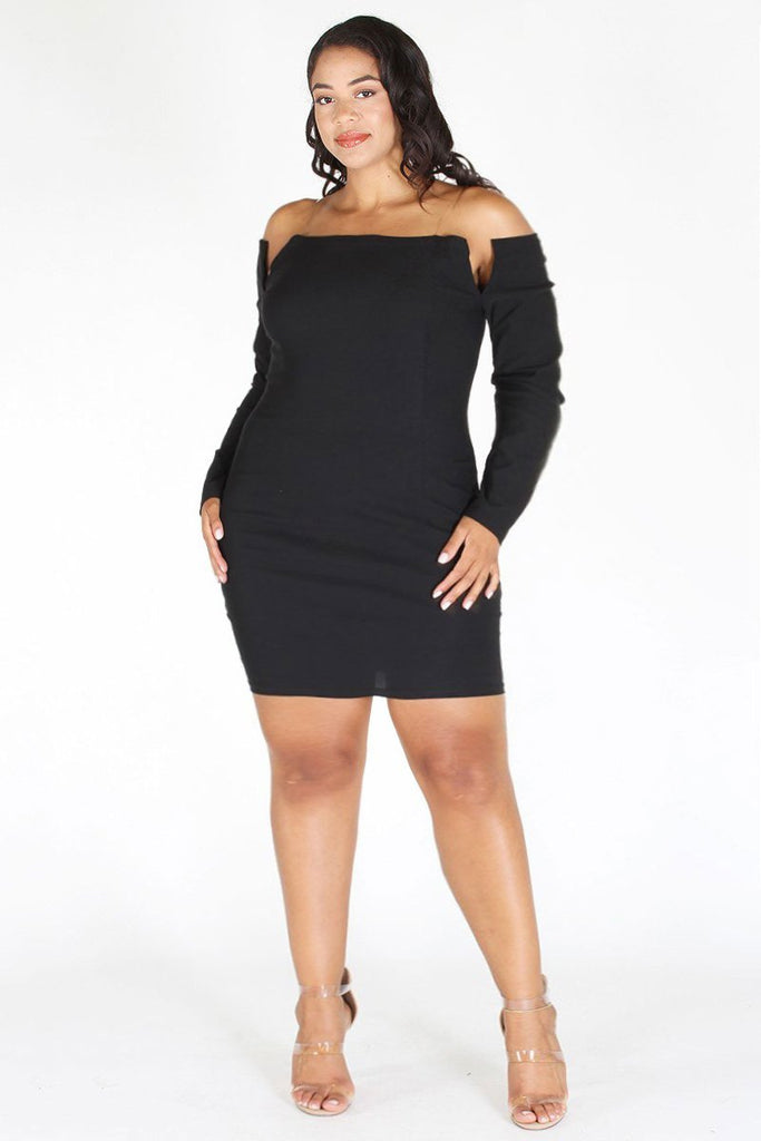 Plus Size Sleek Long Sleeve Cocktail Dress Pre Order 25 Off