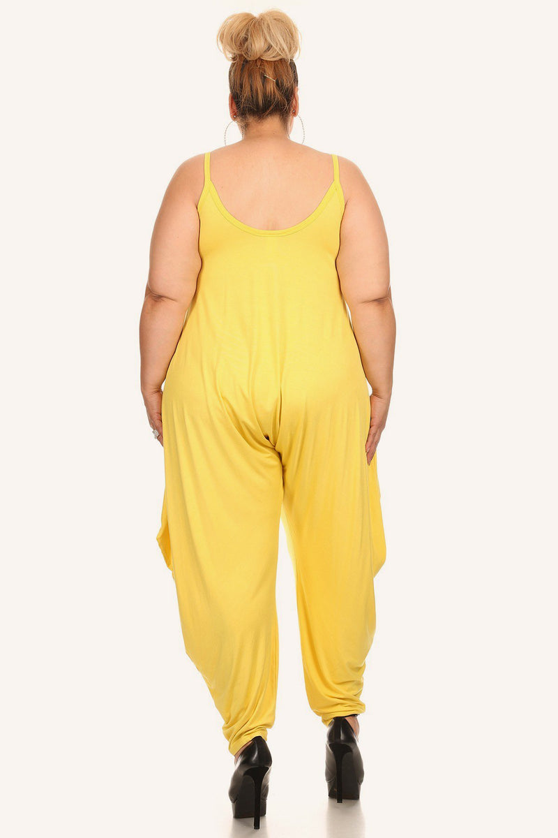 Plus Size Relaxed Harem Round Neck Jumpsuit