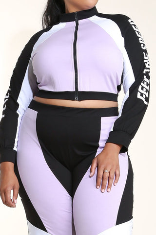 Plus Size Designer Sport Warmup Comfy Set