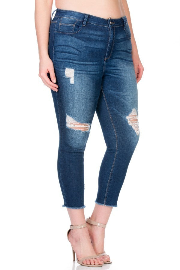 Plus Size Super Cute And Casual Skinny Jeans