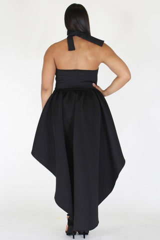 Plus Size Sexy Cadet Hi Lo Sleeveless Dress [PRE-ORDER 25% OFF]