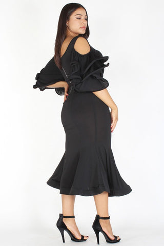 Plus Size Designer Ball Silhouette Bodycon Dress