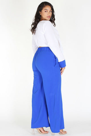 Plus Size Trailblaze Vibrant Gold Stripe Style Pants [PRE-ORDER 25% OFF]
