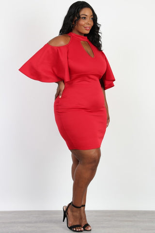 Plus Size Weekend Night Halter Neck Dress