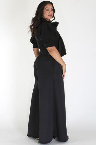 Plus Size Paris Bubble Sleeves & Wide Leg Set [PRE-ORDER 25% OFF]