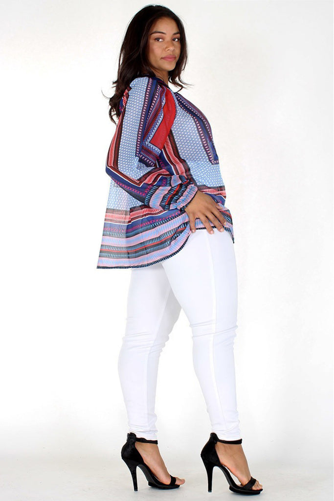Plus Size Beautiful Pattern Flowy Top [PRE-ORDER]