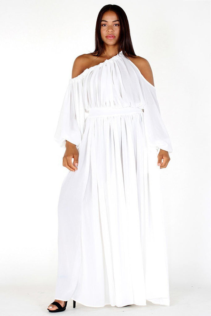 Plus Size Queen Flow Off Shoulder Maxi Dress – Plussizefix