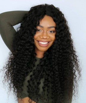 Deep Curly Full Lace Human Virgin Hair Wig
