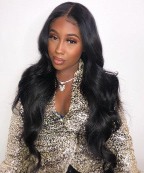 Body Wave 360 Lace Frontal Wig Pre Plucked With Baby Hair