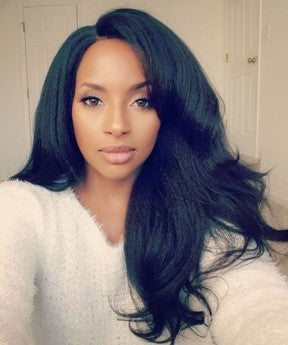 Yaki Straight 250% High Density Lace Front Wigs