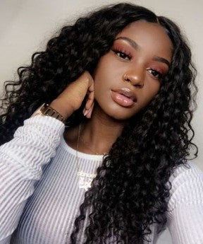Deep Wave 130% Density Lace Front Wig