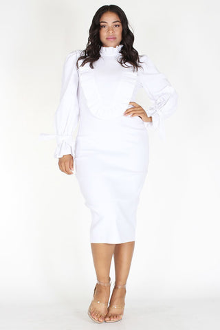 Cute all white dress plus size