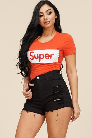 Plus Size SUPER Short Sleeve Bodysuit