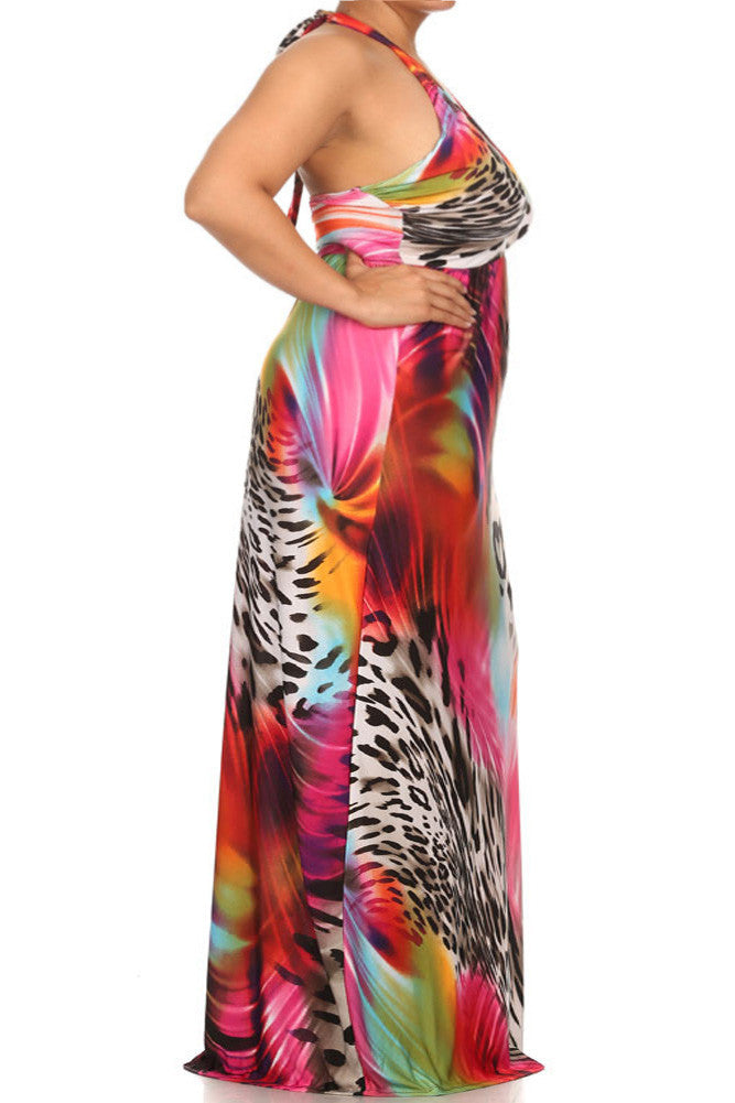 Plus Size On The Prowl Maxi Dress