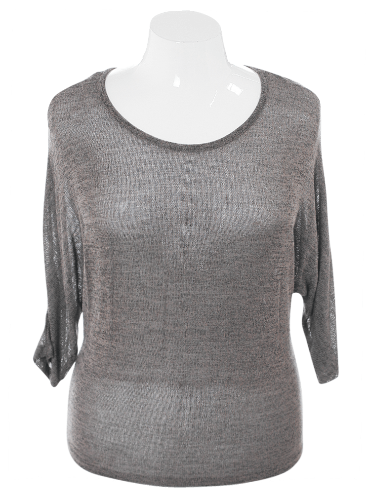Plus Size Charming Cut Out Back Olive Top