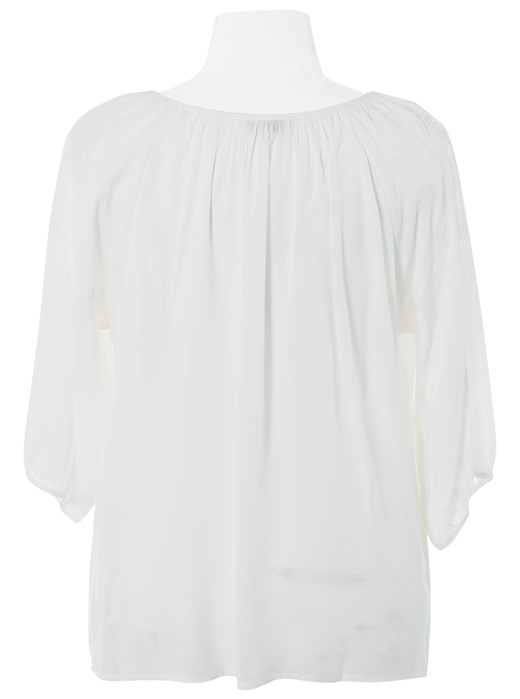 Plus Size Boho Angel Embroidered Blouse