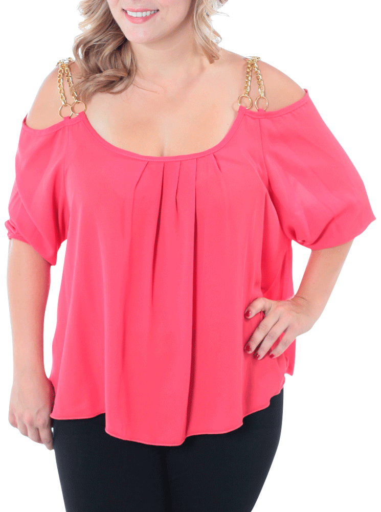 Plus Size Gilded Pleasure Pink Top
