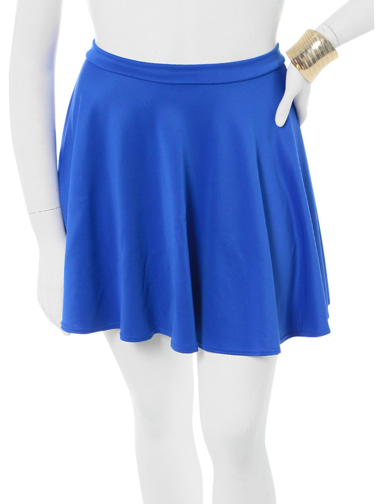 Plus Size Playful Blue Skater Skirt