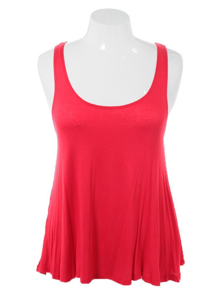 Plus Size Sexy Classic Red Tank