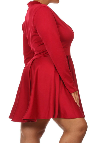 Plus Size Dance The Night Away Skater Dress