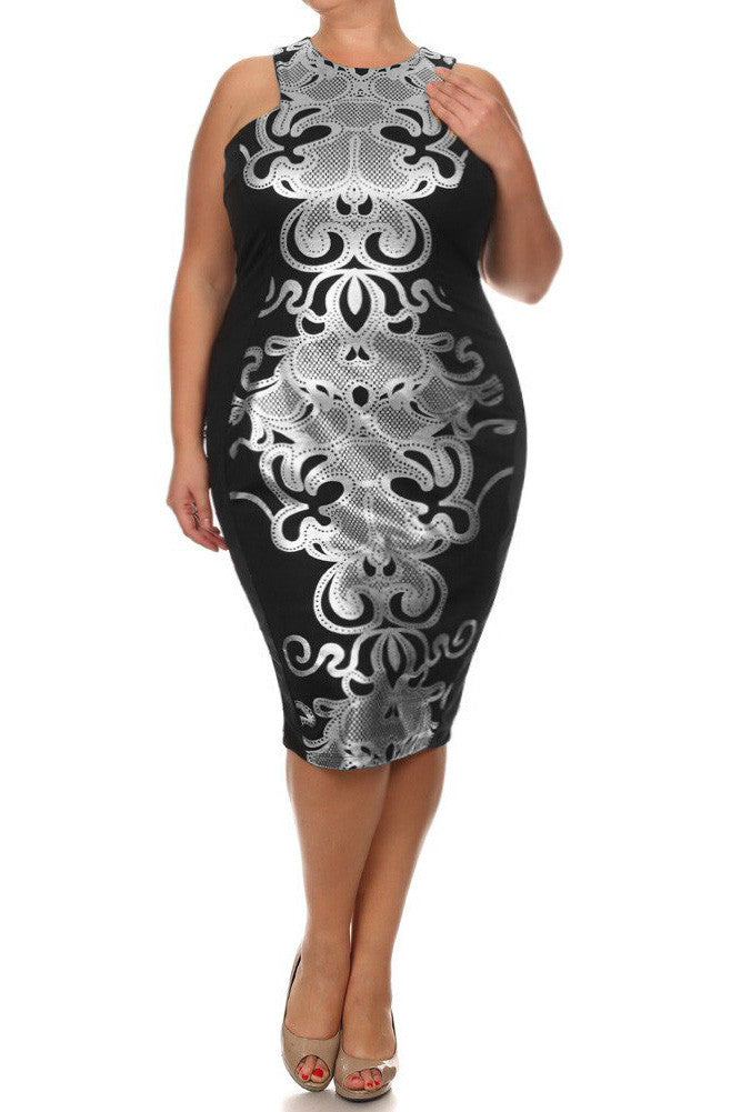 Plus Size Designer Queen Dress