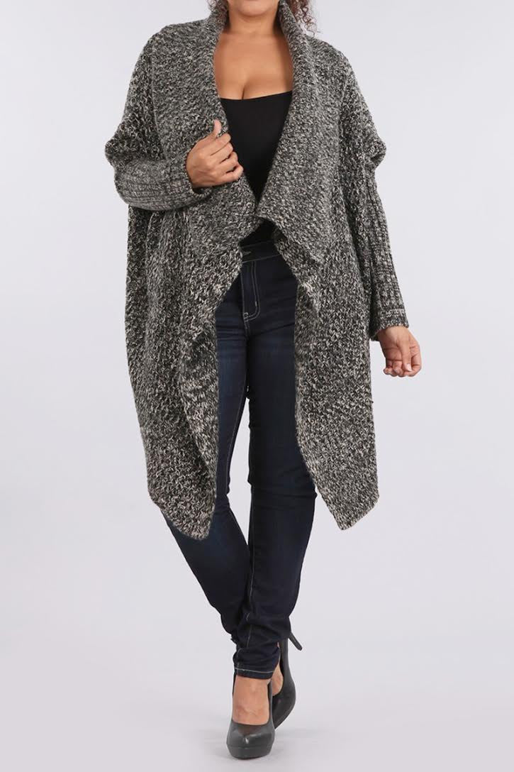 City Chic Plus Size Knit Maxi Cardigan