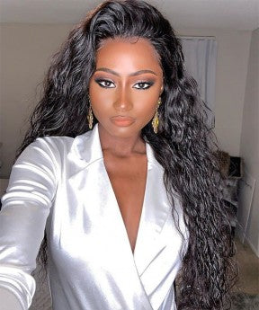 Water Wave Full Lace Human Virgin Hair Wig
