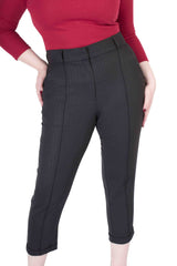 Claudine Pants Black Pin Stripe