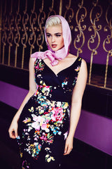 Marie Day Dress Black Floral