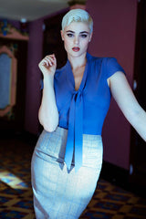 Antoinette Blouse Smokey Blue