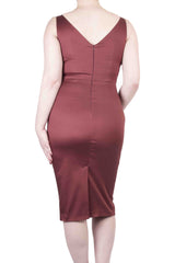 Marie Day Dress Maroon