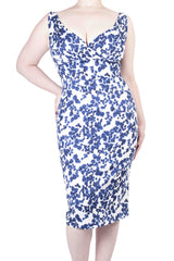 Marie Day Dress Navy Blossom