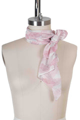 Starlet Scarf Cream Leaf
