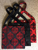 Travel Bag - Red on Black LVR
