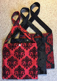 Travel Bag - Black on Red LVR