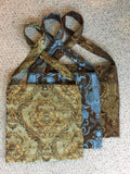 Travel Bag - Regal Sage Green & Gold brocade