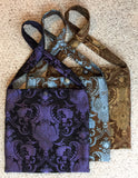Travel Bag - Purple and Black brocade