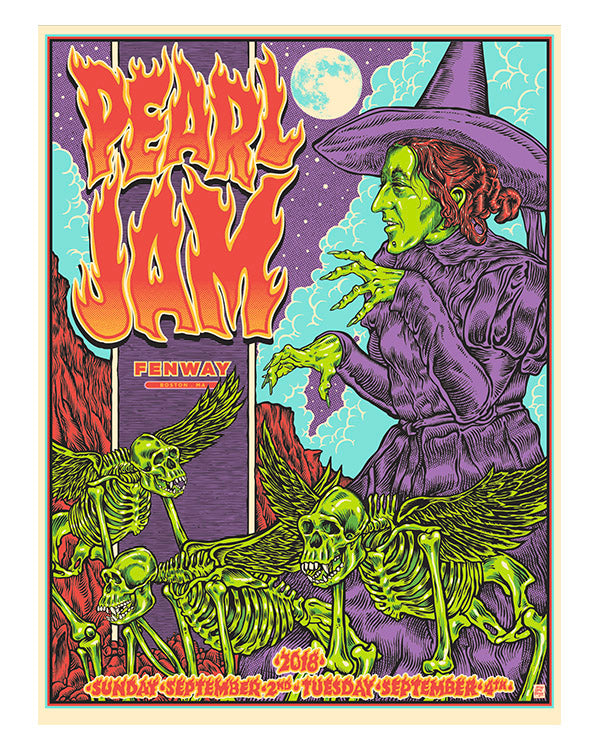 PEARL JAM - FENWAY PARK BOSTON ARTIST A/P COLOUR VARIATION