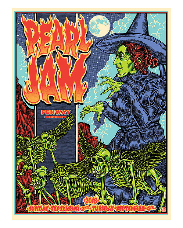 PEARL JAM - FENWAY PARK BOSTON SHOW POSTER