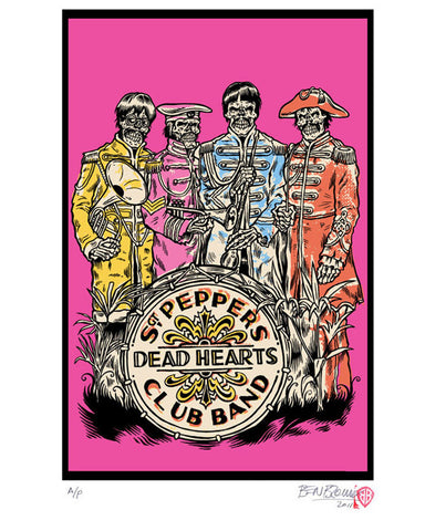 'Beatles - Dead Hearts' print