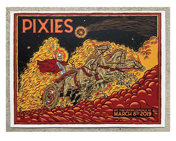 PIXIES LOUISVILLE KY ARTISTS PRINT (7 COLOUR EDITION)