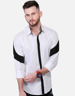 Shirt With Contrast Sleeve Panel