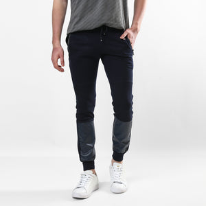 Leather Patched Slim Fit Jogger